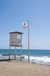 Lifeguard observation tower station on spanish coast