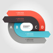Modern arrow circle step up options banner. Vector illustration.