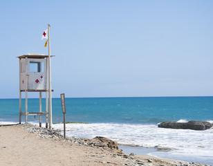 Lifeguard observation tower station on spanish coast