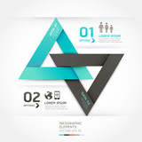 Modern arrow origami style options banner. Vector illustration.
