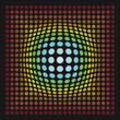 Zentrum Retro Fokus Farbe