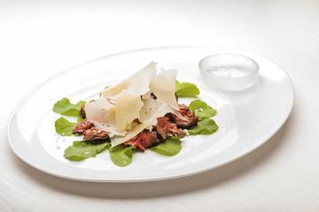 Slices of Juicy Tenderloin steak. Gourmet Main Course.