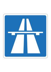 Autobahnzeichen Verkehrsschild