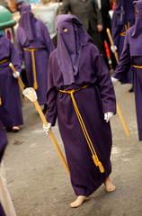 Nazareno descalzo durante una procesion