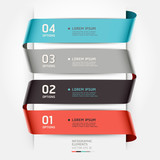 Fototapety Abstract infographics template ribbon style. Vector illustration