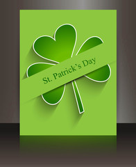 Brochure beautiful brochure reflection st patricks day backgroun