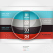 Abstract infographics element circle template. Vector