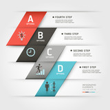Modern business steb origami style options banner. Vector