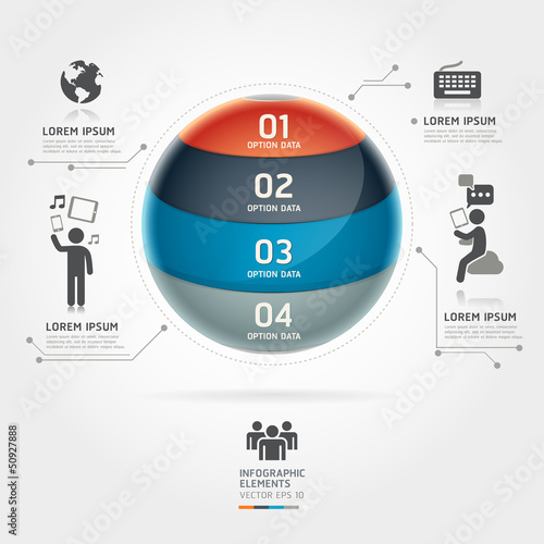 Abstract globe infographics communication technology element