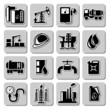Vector oil industry icons