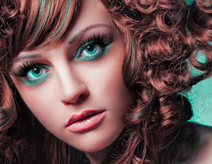 beauty portrait green eyes / haircolors 29_4