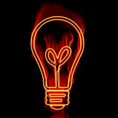 Brennende Glühbirne