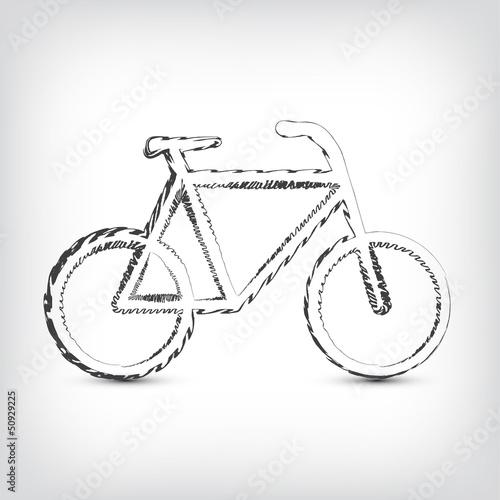 Fahrrad Zeichnung Einfach : fototapete fahrrad logo gezeichnet ~ Watch28wear.com Haus und Dekorationen