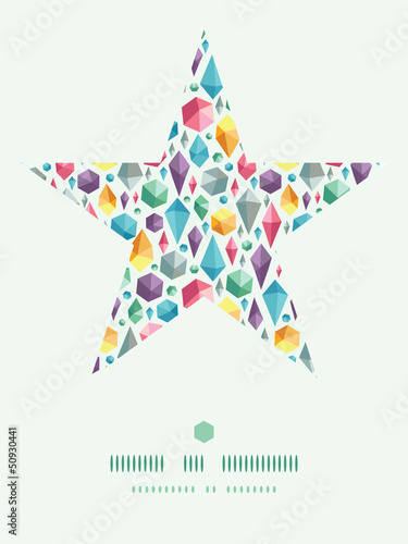 Poster Geometrische dieren Vector hanging geometric shapes star decor on colorful pattern