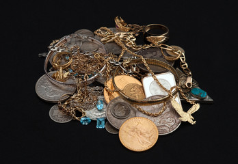 Scrap Gold,Coins and Jewelry