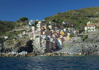 Riomaggiore and sea