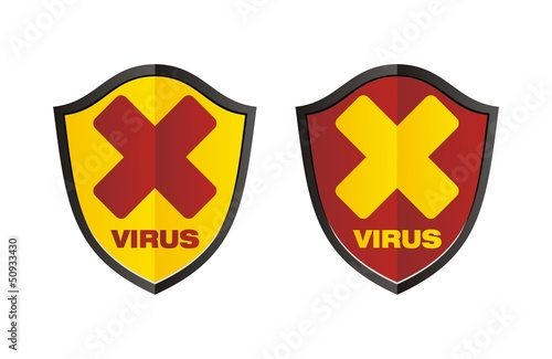 virus - sield signs