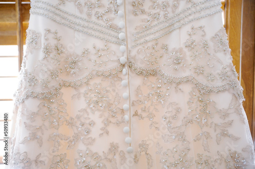 Brides gown close-up