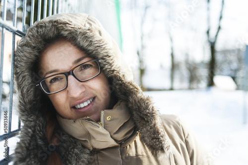 canvas print picture Winterliches Portrait