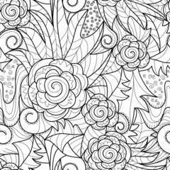 vector seamless black and white art drawing