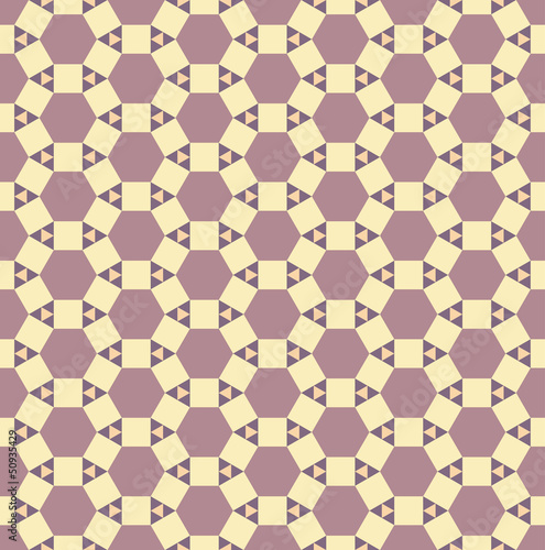 Seamless abstract pattern. Texture with triangles, squares, hexa