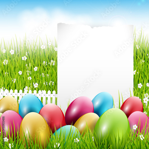 Easter background with place for text