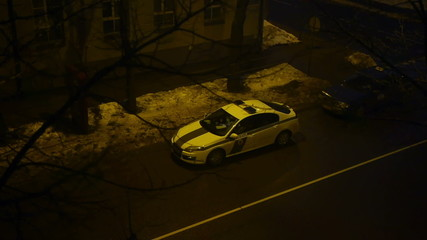 HD - Police car on the night street