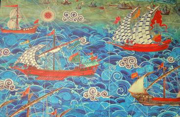 Ottoman ships ,miniature painting