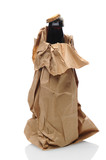 Beer Bottle in Brown Bag