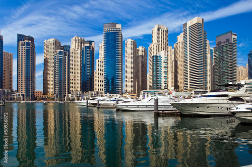 Dubai Marina, UAE.