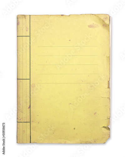 Old yellow folder.