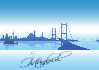 Değişik bir İstanbul  silueti