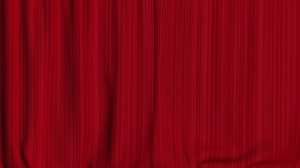 Red theater curtain closing with luma channel