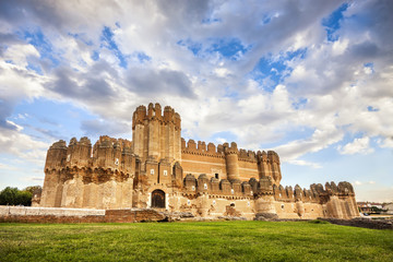 Coca Castle in Segovia (Castilla y Leon), Spain