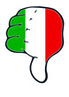 italy Thumb judgement down negativ