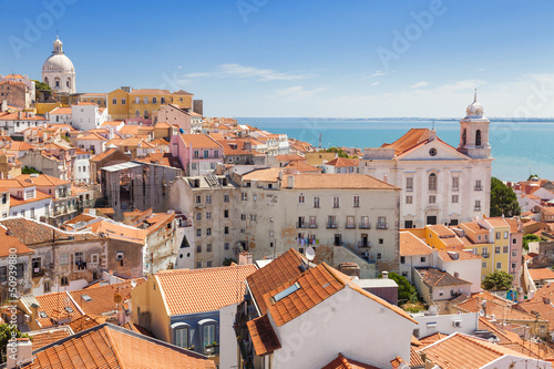 Panoramic of Alfama rooftops, Lisboa, Portugal - 50939880