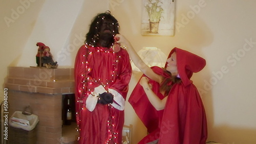 Christmas Little Red Riding Hood and Big Bad Wolf funny scene