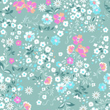 delicate popcorn seamless floral background