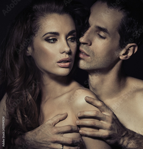 Portrait of a sensual young couple