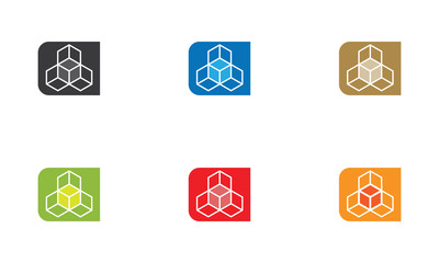 Pack logo cubes
