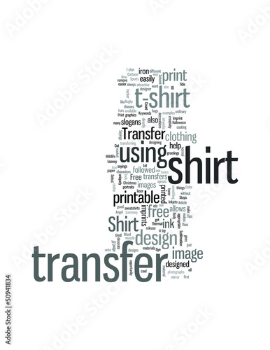 How to print a T shirt transfer