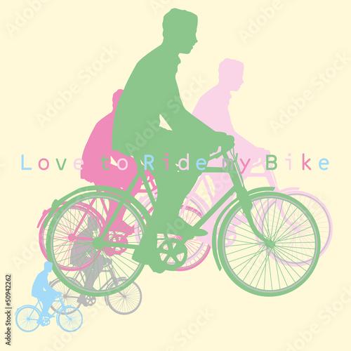 Uwielbiam jeździć na rowerze