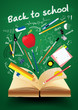 Book with back to school creative concept
