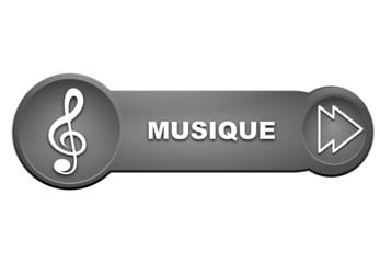 musique sur bouton gris