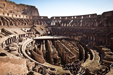 Colosseum the most remarkable landmark in Rome, Italy