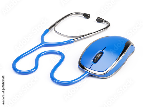 Computer mouse - stethoscope