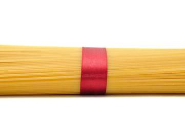 spaghetti isolated on white background.