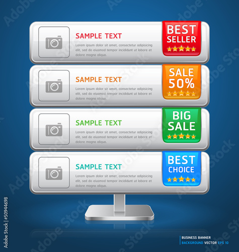 Business Stand Display Banner & Card Background. Vector illustra