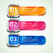 Colorful Buttons Website Style Number Options Banner & Card Back