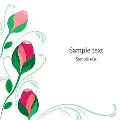 Rose floral card